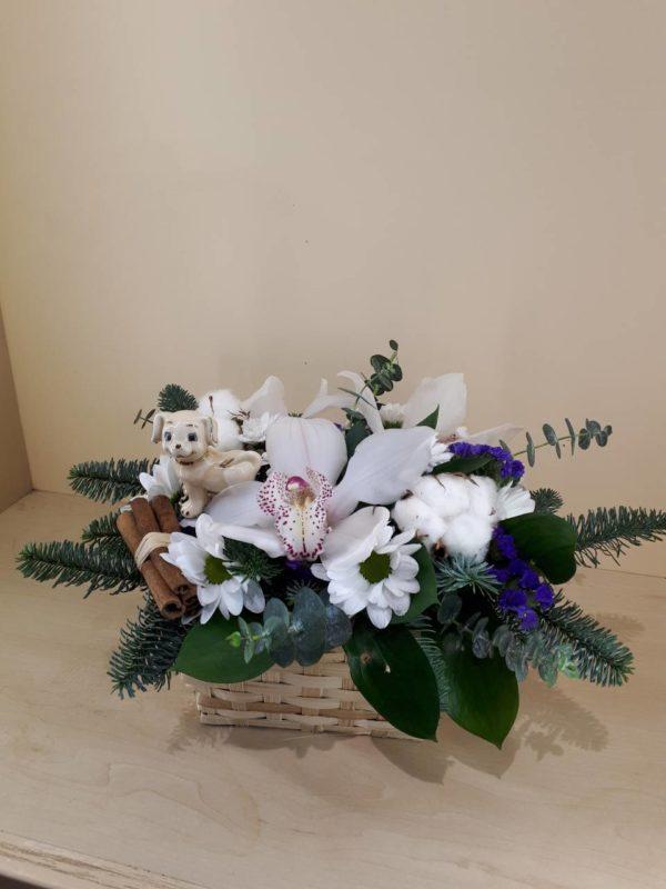 Новый Год 2019 Орхидеи и хризантемы M144
