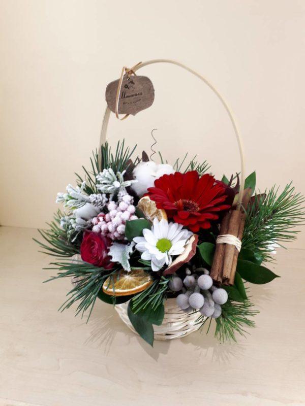 Букет из гербер, хризантем и кустовых роз