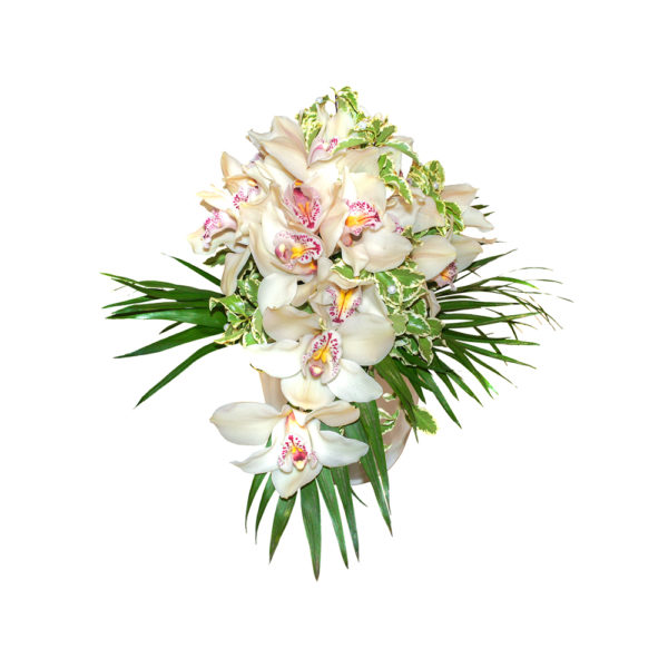Свадебный букет из орхидеи, зелени