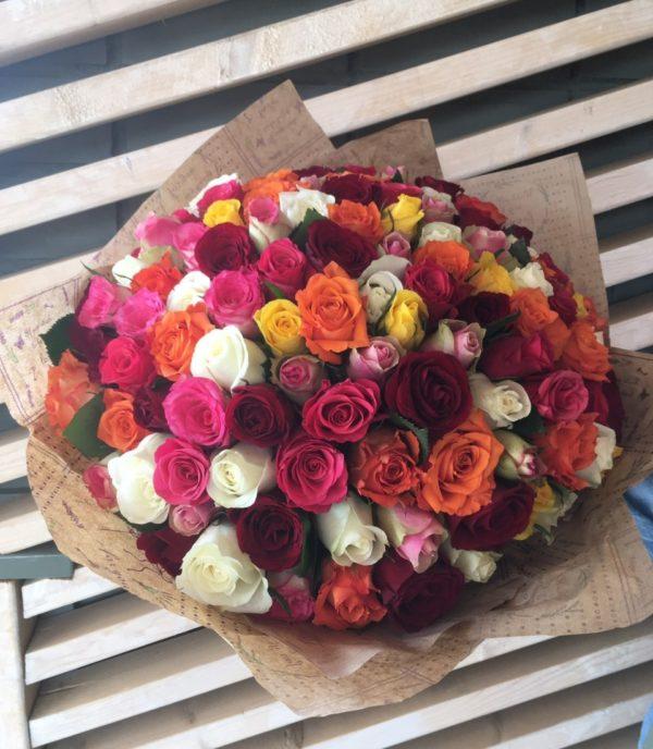 Букет из 101шт. кенийских роз