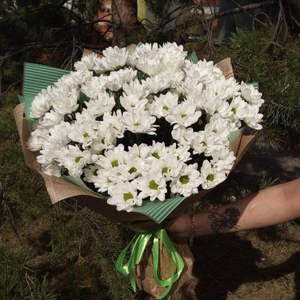 Букет из кустовой хризантемв 15 веток